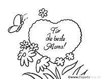 Muttertagsideen - Grußkarten ausdrucken, ausmalen, verschenken