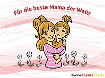 Postkarte zum Muttertag zum Drucken