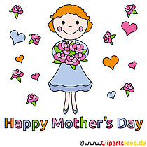 Zum Muttertag Clipart