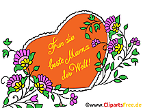 Zum Muttertag Glückwunschkarte, Clipart, Bild, Illustration
