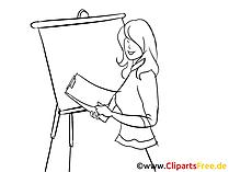 Attraktive Frau Clipart, Bild, Zeichnung, Cartoon