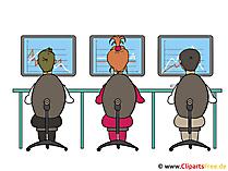 Bild-Clipart Büromitarbeiter