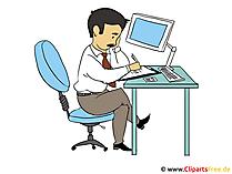 Büroarbeit Clipart - Bild