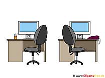 Büromöbel Bilder - Clipart