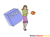 Chefin Clipart, Grafik, Bild, Cartoon