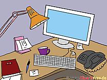 Clipart - Bild Arbeitsplatz