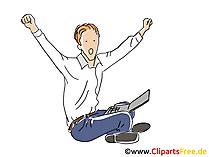 Durchbruch Business Clipart, Bild, Cartoon