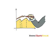 Entwicklung von Verkäufen Grafik Clipart, Bild