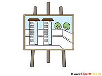 Flip-Chart Bild-Clipart