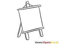 Flipchart leer Clipart, Bild, Zeichnung, Cartoon