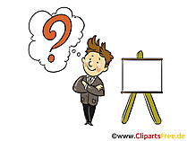 Frage Bild, Clipart, Grafik, Cartoon, Illustration