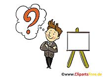 Frage Bild, Clipart, Grafik, Cartoon, Illustration