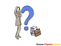 Frage Clipart, Grafik, Bild, Cartoon