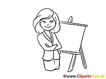 Frau im Anzug Clipart, Bild, Cartoon