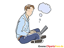 Freelance Business Clipart, Grafik, Bild, Cartoon