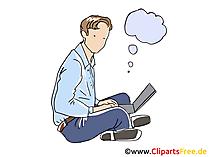 Freelance Business Clipart, Grafik, Bild, Cartoon