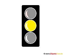 Gelbe Ampel Clipart