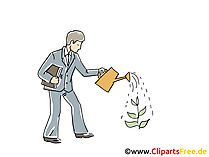 Geld wachsen lassen Clipart, Grafik, Bild, Cartoon