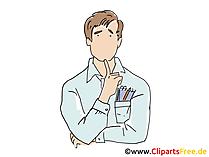 Geschäftsführer Clipart, Grafik, Bild, Cartoon
