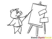 Geschaeftsmann praesentiert Clipart, Bild, Zeichnung