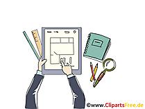 Grunsriss Immobilie Clipart, Grafik, Bild, Cartoon
