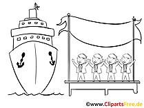 Hafen Clipart, Bild, Zeichnung, Cartoon gratis