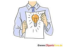 Ideenmanagement Clipart, Grafik, Bild, Cartoon