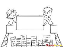 Immobilien Clipart, Bild, Zeichnung, Cartoon