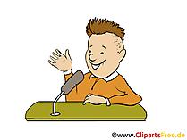 Interview Clipart, Bild, Grafik, Cartoon gratis