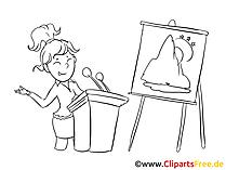 Junge Auszubi Clipart, Bild, Zeichnung, Cartoon