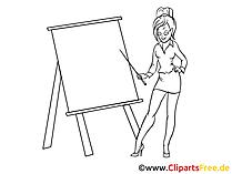 Junge Frau Clipart, Bild, Zeichnung, Cartoon