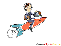 Karriere machen Bild, Cartoon, Clipart