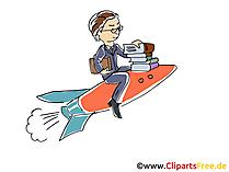 Karriere machen Bild, Cartoon, Clipart
