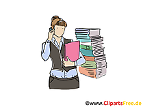 Kauffrau Clipart, Grafik, Bild, Cartoon