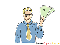Kaufmann Clipart, Bild, Cartoon, Grafik