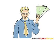 Kaufmann Clipart, Bild, Cartoon, Grafik