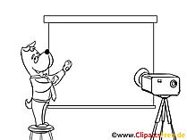 Kino, Projektor Clipart, Bild, Zeichnung