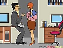 Klatsch und Tratsch im Büro Bild