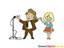 Konzert Bild, Clipart, Cartoon, Illustration