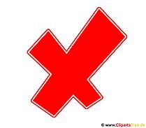 Kreuz Rot Fehler