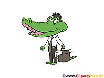 Krokodile Clipart, Bild, Illustration