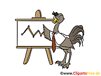 Strauss präsentiert  am Chatboard Clipart, Comic, Bild