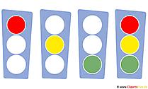 Verkehrsampeln Cliparts