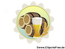 Bier Cliparts, Ilustrationen, Bilder