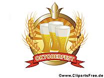 Бокалы пива на Октоберфест клипарт, картинки, илюстрации
