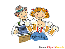 Fest in Bayern Oktoberfest Clipart, Bild, Grafik, Illustration, Comic, Cartoon gratis