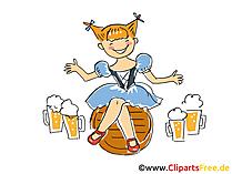 Oktoberfest Bilder, Cliparts, Grafiken, Illustrationen, Cartoons kostenlos