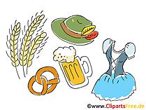 Oktoberfest Clipart, Bild, Grafik, Illustration, Comic, Cartoon gratis