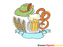 Oktoberfest Illustrationen, Bilder, Cartoons, Comics gratis