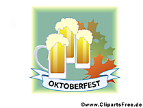 Szkło piwo na barze Oktoberfest  free